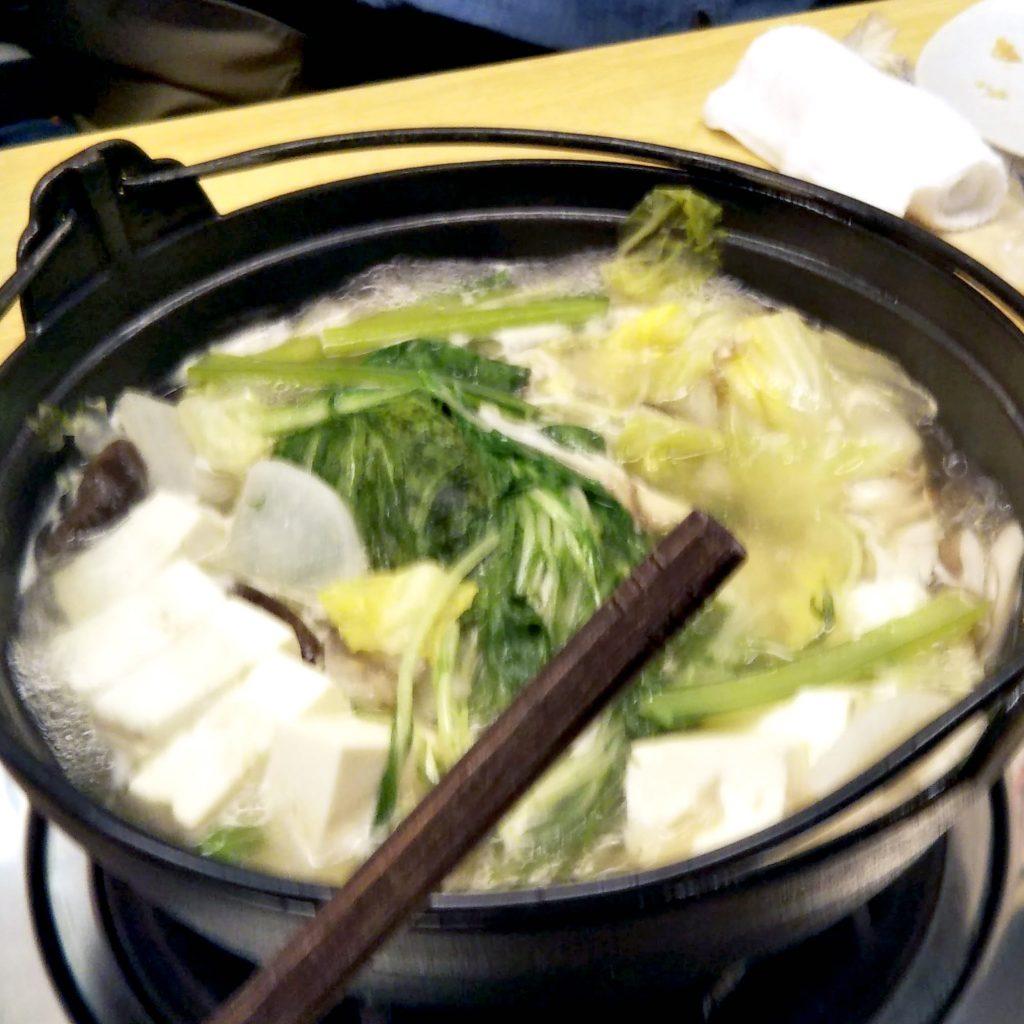 Healthy tofu chankonabe.